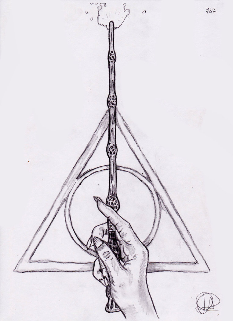 Drawn symbol deathly hallows Sketchbook  Hallows drawing sign
