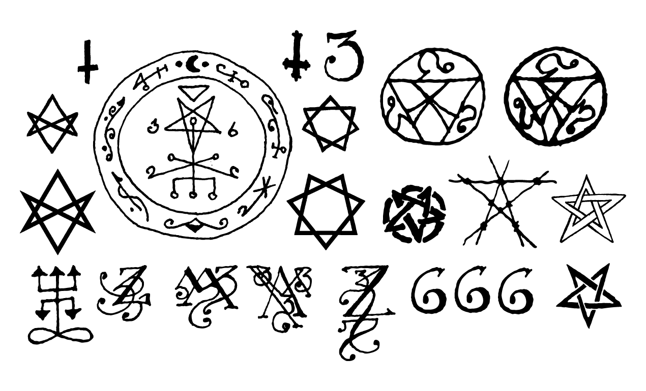 Drawn sykol demonic Esoteric  and Vector Occult