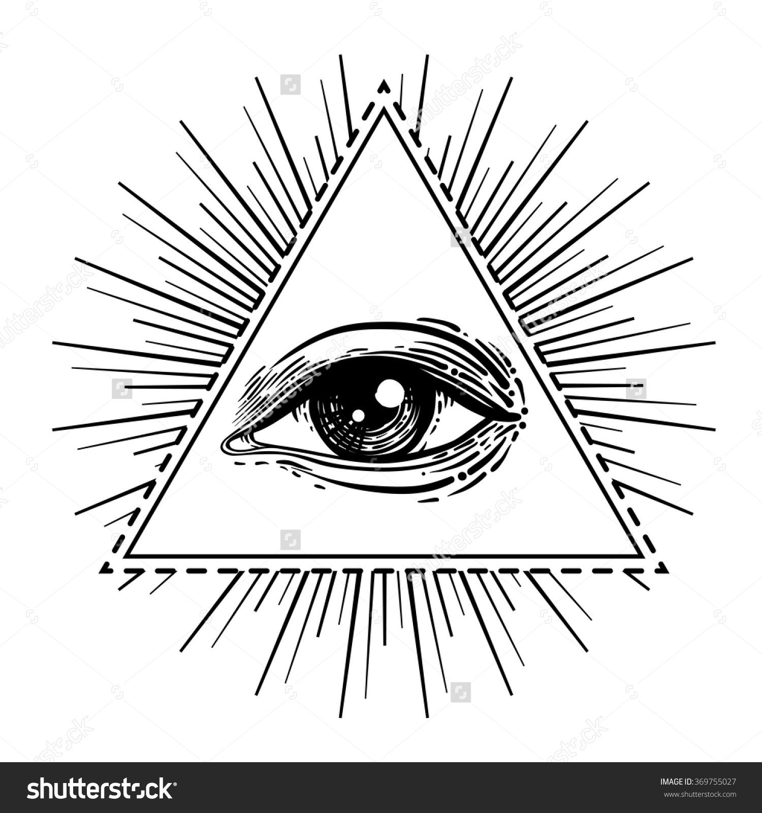 Drawn symbol eye  seeing Providence New All