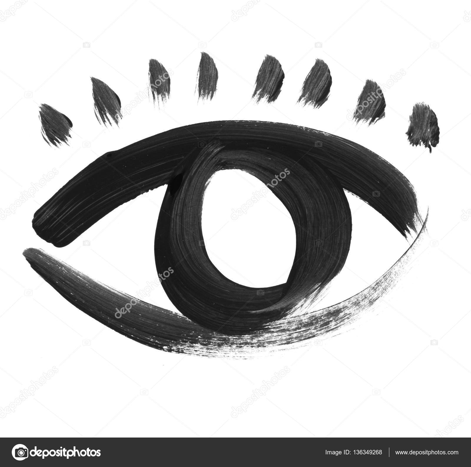 Drawn sykol eye Painted painted Stock  icon