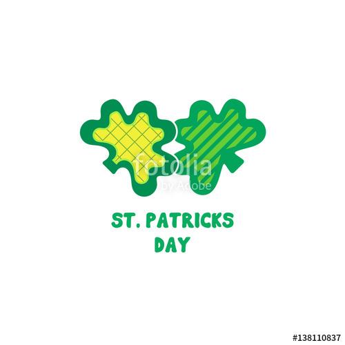 Drawn sykol fancy Patrick's cute holiday emblem Day