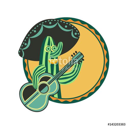 Drawn sykol fancy Mexican fancy frame style poster