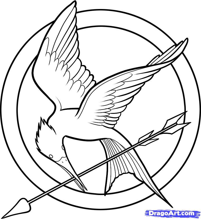 Drawn sykol hunger games Logo Hunger Hunger Games How