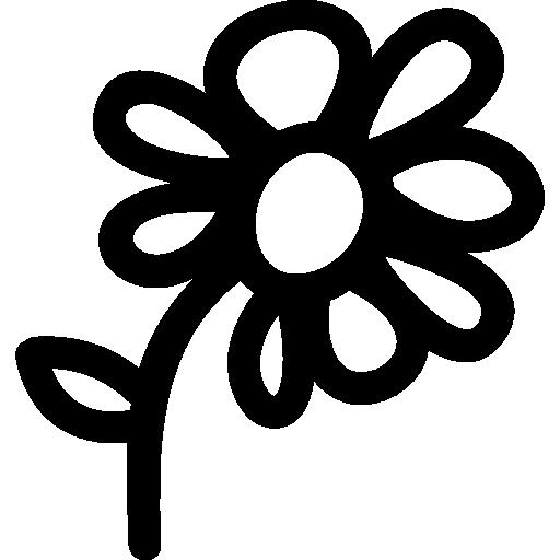 Drawn symbol icon Drawn symbol drawn hand Flower