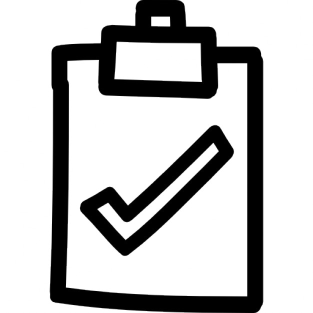 Drawn symbol icon Free checkmark hand Download Clipboard