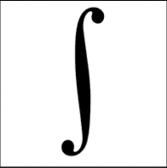 Drawn symbol integral Of Picture line  The