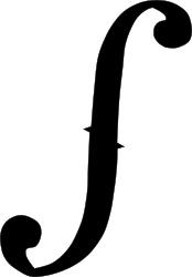 Drawn symbol integral Ideas tattoo on Violin The