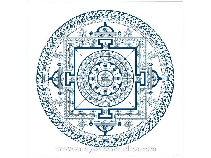 Drawn sykol mandala With Medicine Mandala Buddhist Mandala
