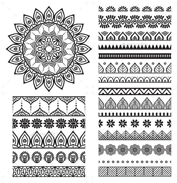 Drawn pattern indian 25+ Pinterest and Borders Mandala