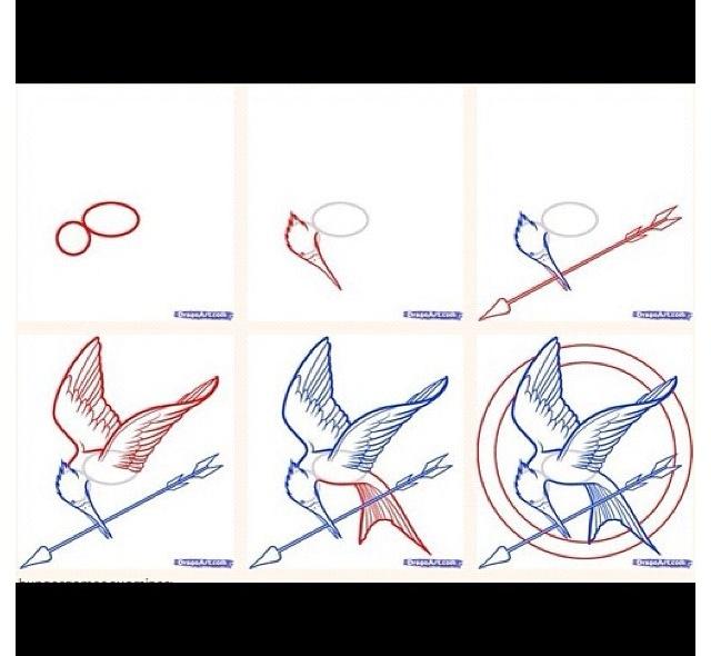 Drawn sykol mockingjay Draw HUNGER on to pin