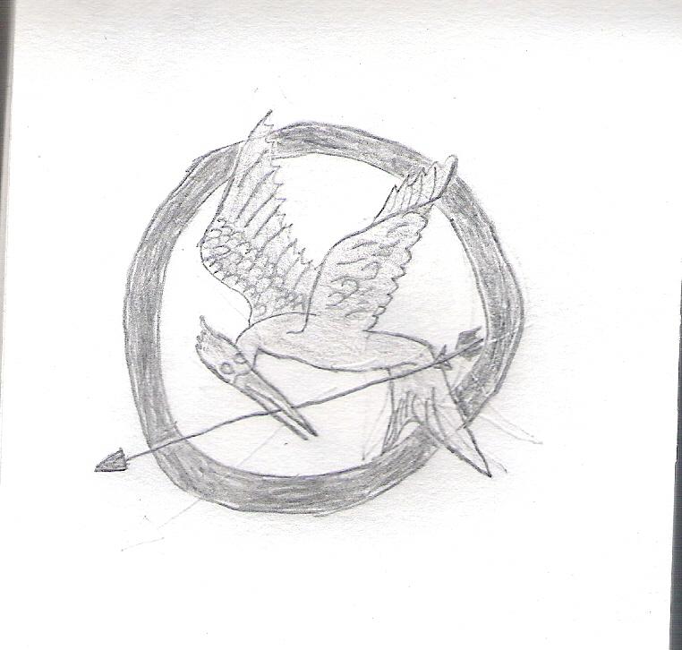 Drawn sykol mockingjay Drawing Symbol Symbol AuraKnight95 Mockingjay