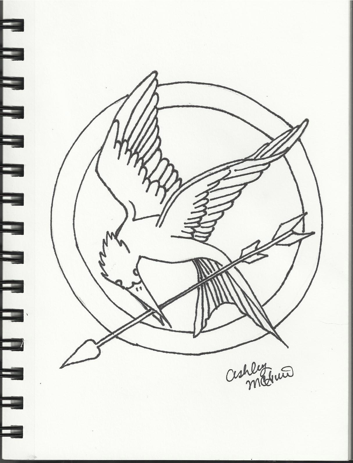Drawn sykol mockingjay Pin bird Bird Mockingjay photo#21