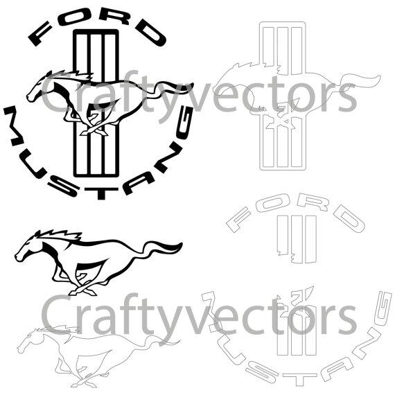 Drawn sykol mustang Mustang Ford Vector Logos Logos