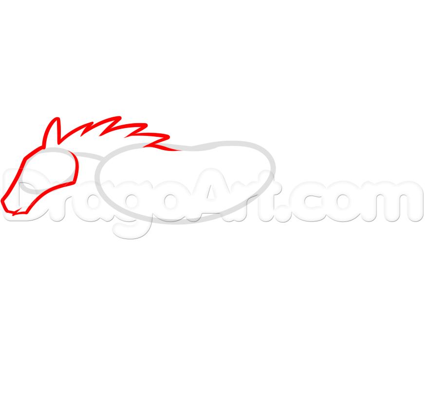 Drawn sykol mustang  logo Step How Mustang