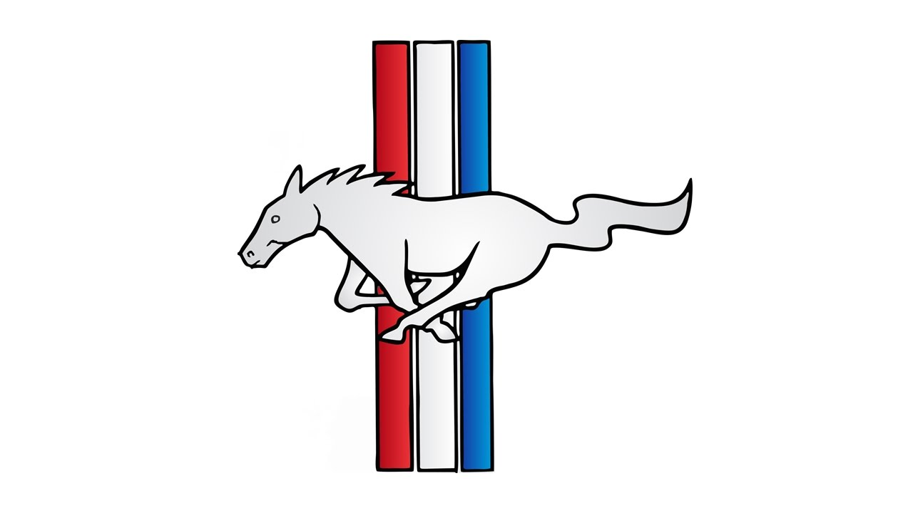 Drawn sykol mustang Mustang YouTube How Ford to