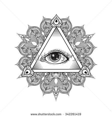 Drawn pyramid art Drawn design design hand Vintage