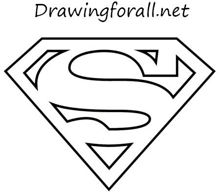 Drawn symbol superman Draw the logo DrawingForAll net