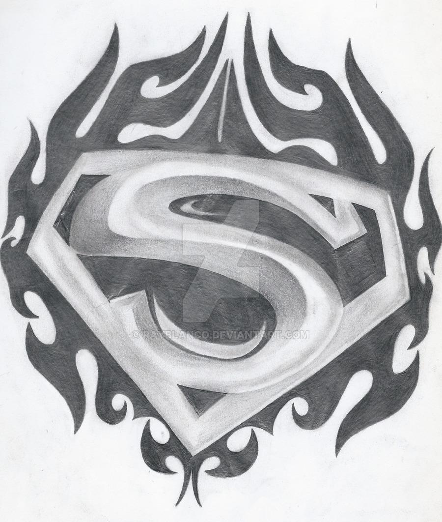 Drawn symbol superman Superman Tribal  Symbol
