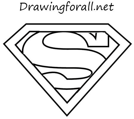 Drawn symbol superman Draw the sign DrawingForAll net
