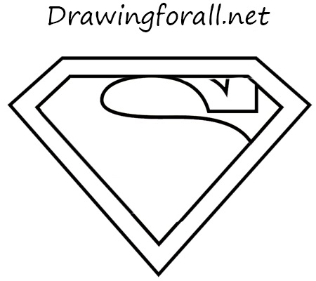 Drawn symbol superman Logo Logo to DrawingForAll superman