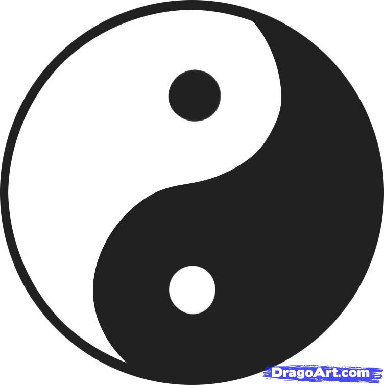 Drawn sykol yin yang  yang to Yin Step
