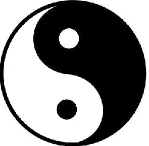 Drawn sykol yin yang I day Message Music in