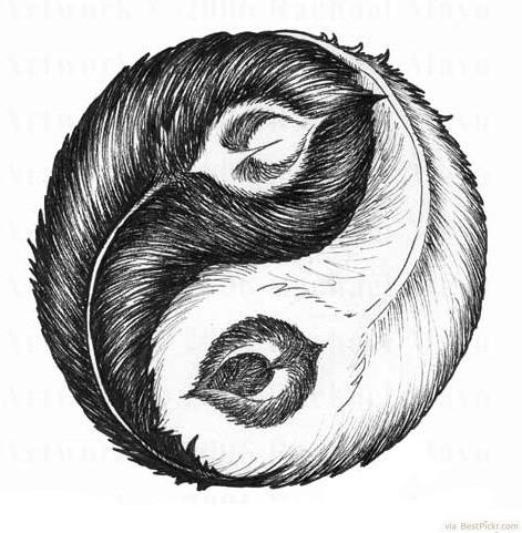 Drawn sykol yin yang Http://bestpickr Ying Drawing ❥❥❥ Drawing