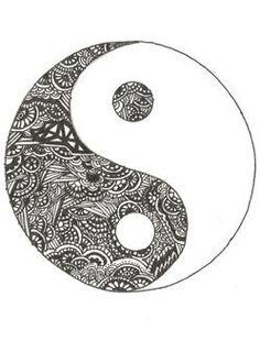 Drawn sykol yin yang From Yang Ying http://bestpickr ❥❥❥