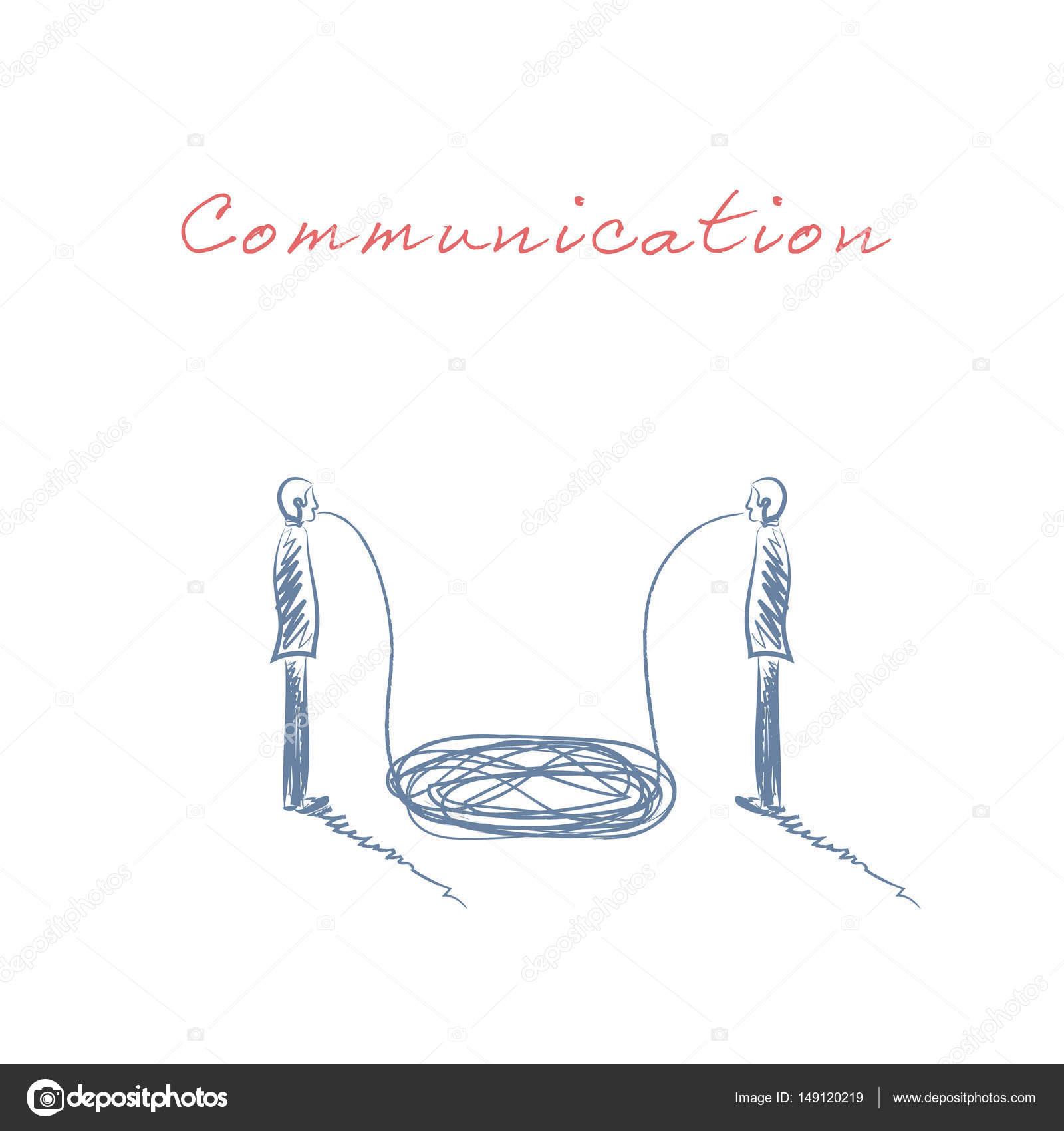 Drawn symbol communication Drawn business Business with having
