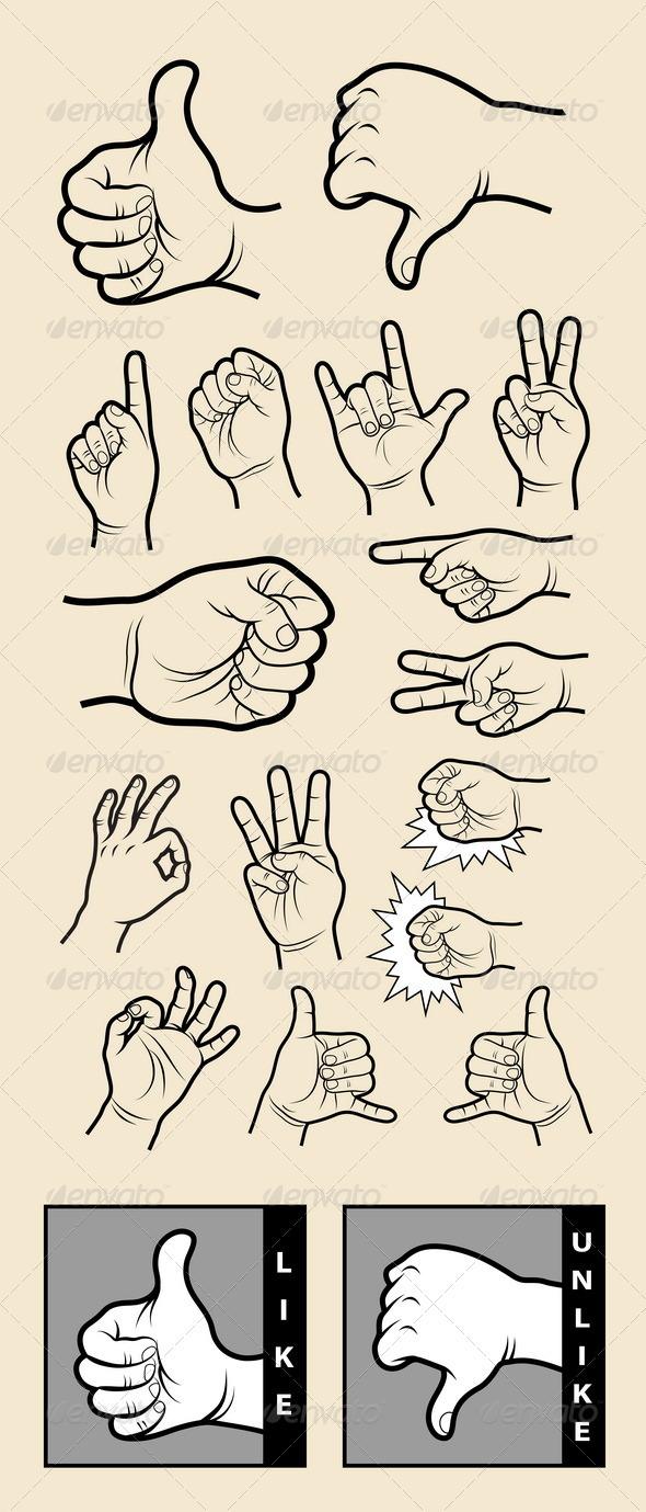 Drawn symbol communication Vector 1 Vector 1 Hand