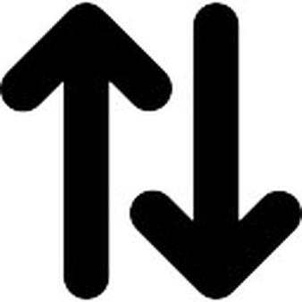 Drawn symbol double sided arrow Vectors Double side arrows Arrows