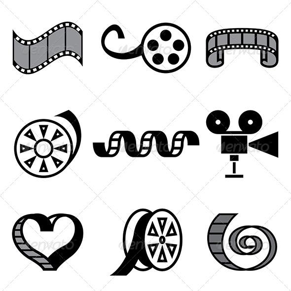 Drawn symbol film And Icons Film Movie Cinema