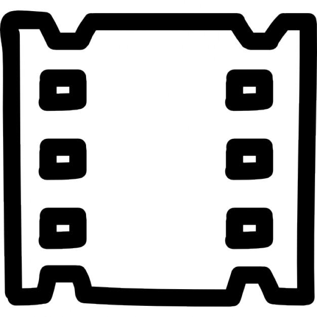Drawn symbol film Video symbol Icons hand Icon