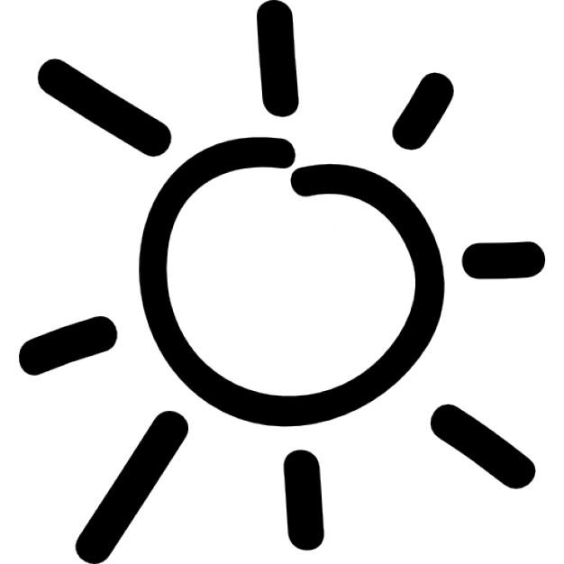 Drawn symbol icon Drawn day hand hand Icon