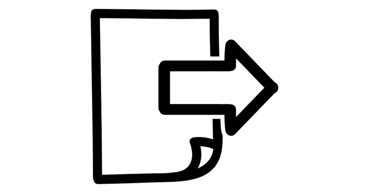 Drawn symbol icon Page hand icons Next Free