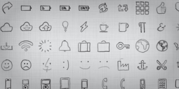 Drawn symbol little Icons CSS Big & Fonts
