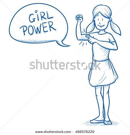 Drawn symbol power Symbol arm girl symbol young