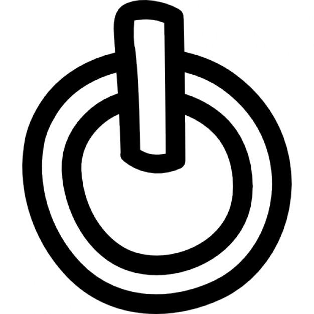 Drawn symbol power Power Free symbol hand variant