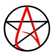 Drawn symbol satanic And ideas Crosses The on