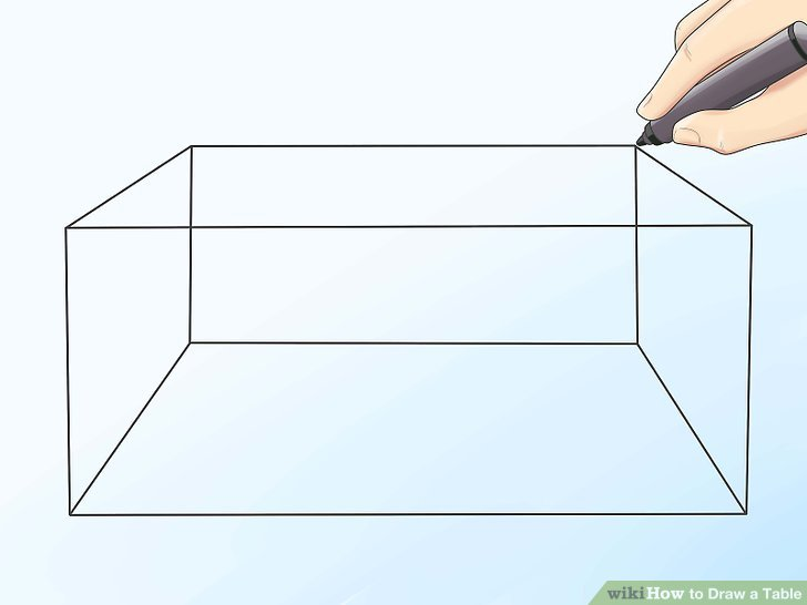 Drawn table Titled Draw Step 2 wikiHow
