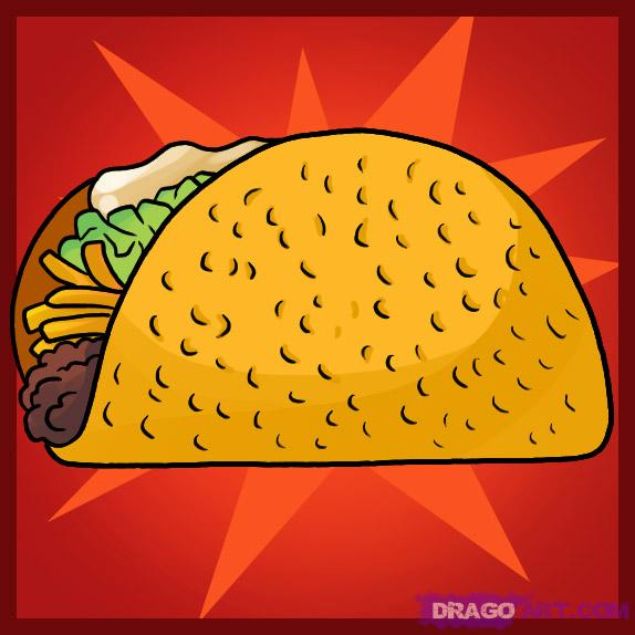 Drawn tacos Draw a how Crafties to