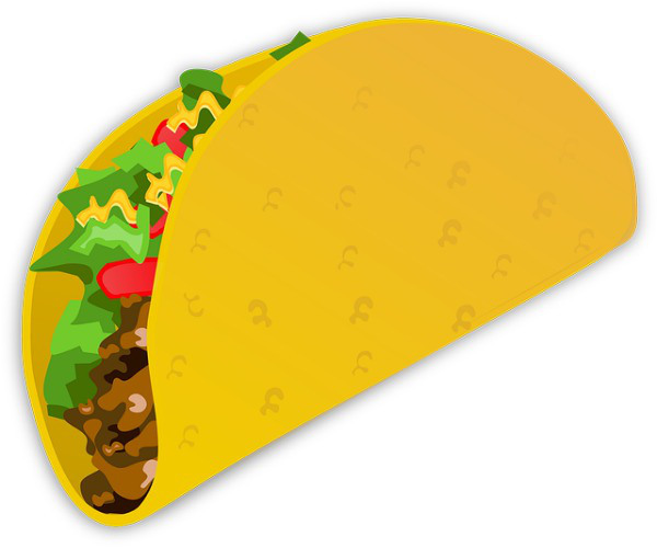 Drawn taco With Landed Landed A Taco