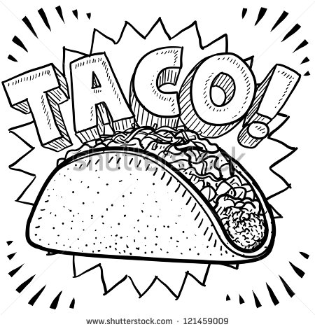 Taco clipart hispanic food Sketch Mexican format format in