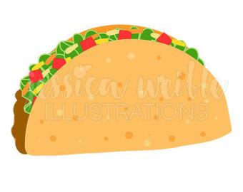 Taco clipart fiesta Art Crunchy Food Taco Mexican