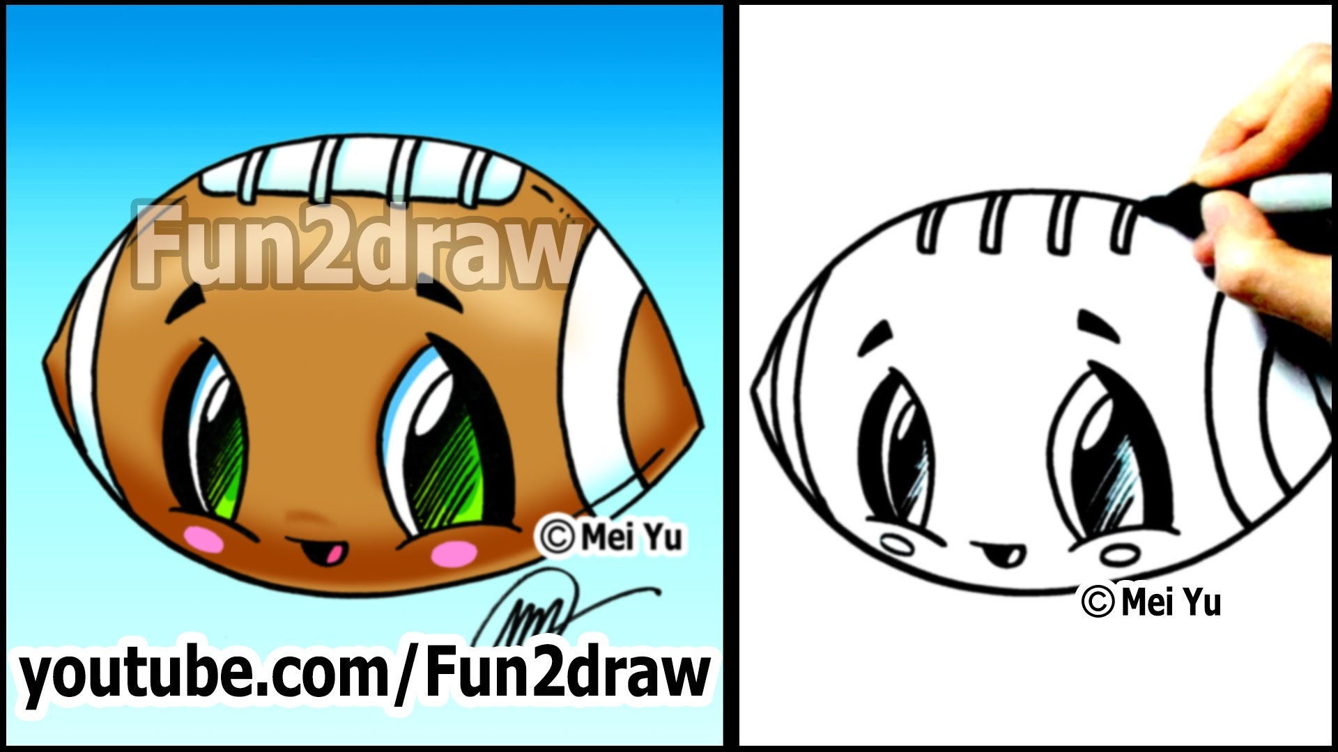Drawn tacos fun2draw Football Tutorials Easy to Drawing