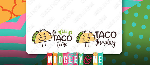 Drawn taco happy Planner Condren Planner Time Hand