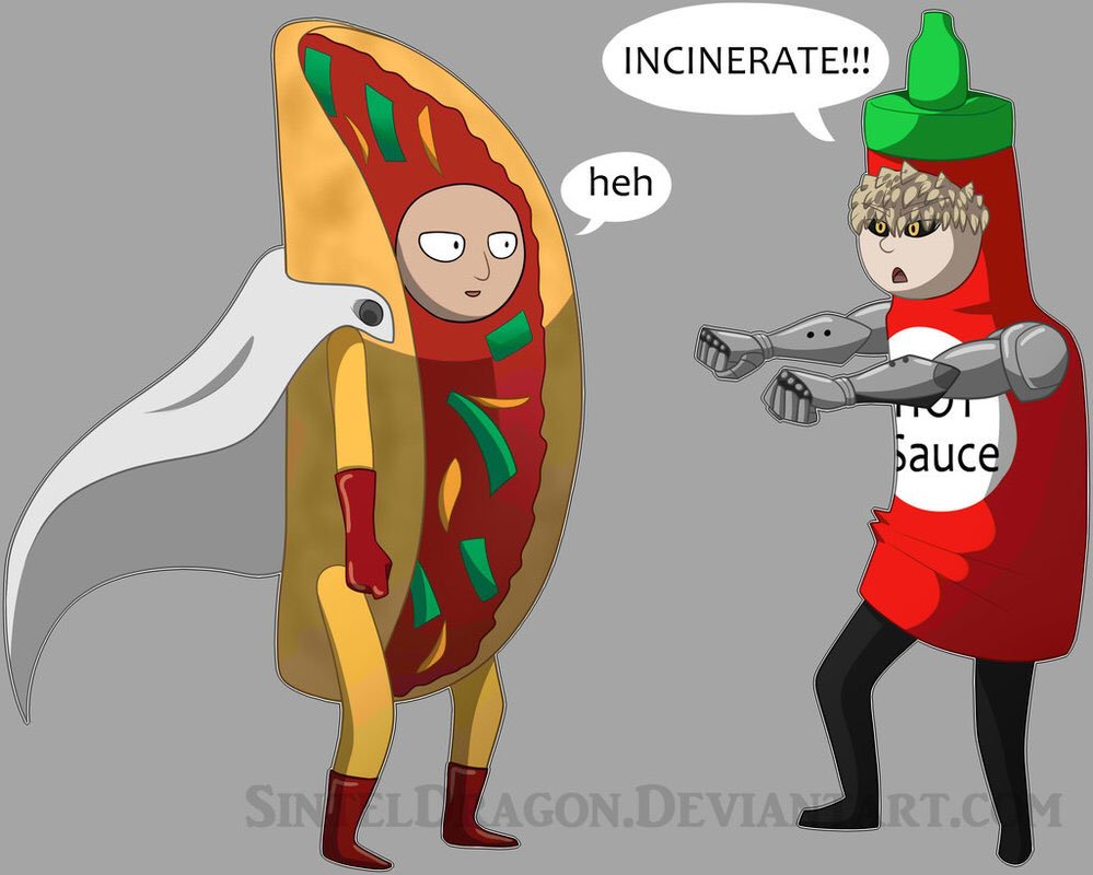 Drawn taco large Twitter: you Genos your of