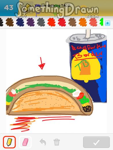 Drawn taco large Com by Something Draw TACO