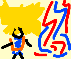 Drawn tacos messy Goku (drawing with strings Lethal