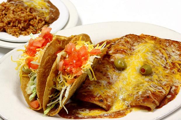 Drawn taco tex mex Nacho veggie one tostada one
